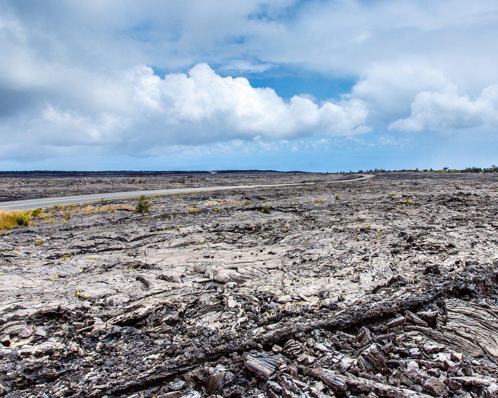 Road through the lava flow