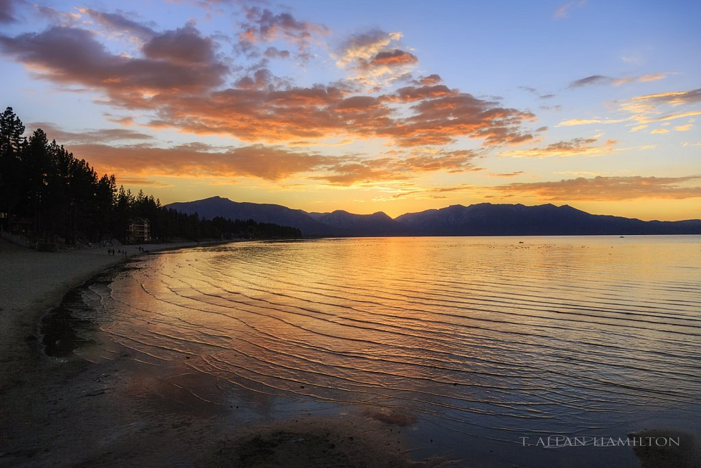 Sunset over South Lake Tahoe