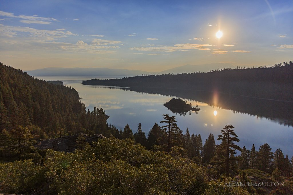 A famous cove on Lake Tahoe early morning