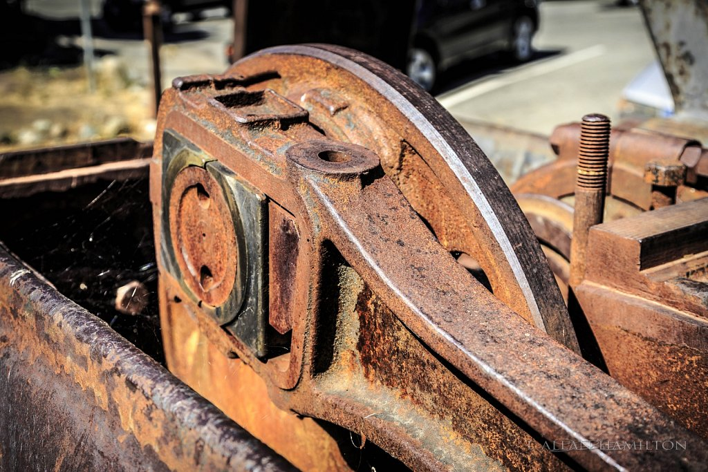 Connecting rod on old steam engine